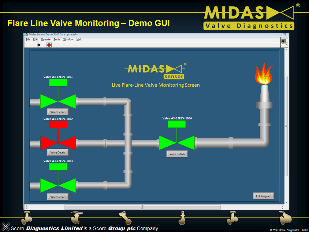 Example Of Software Accompanying Midas Sensor